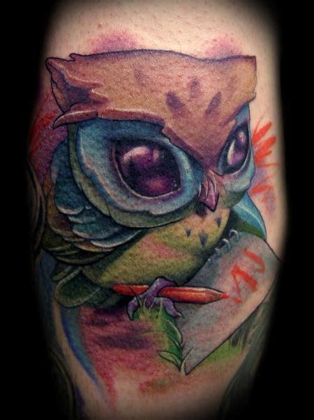 tattoo owl cartoon owl tattoos inspiring tattoos
