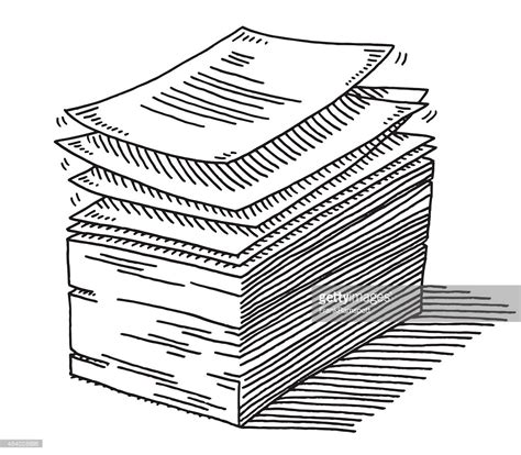 documents clipart stack of paper documents drawing vector getty images