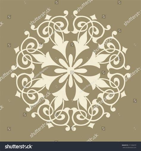 islamic pattern circle vector round pattern mandala abstract design persian stock vector