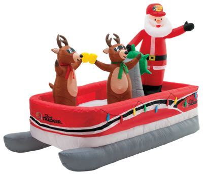 inflatable santa in boat bass pro shops 10 pontoon boat bass pro shops