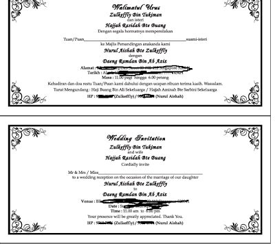 Wedding Checklist Melayu by Till I Say I Do Wedding Invites