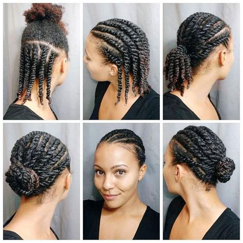 natural hair after five styles quick hairstyles for natural hairstyles with braids top