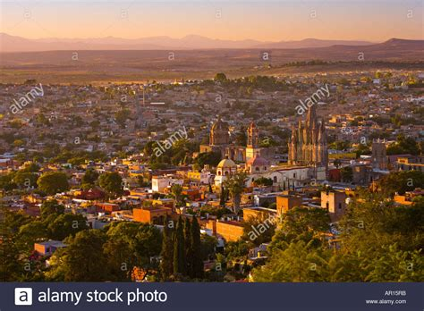 American Colonial Architecture the beautiful city of san miguel de allende at sunset