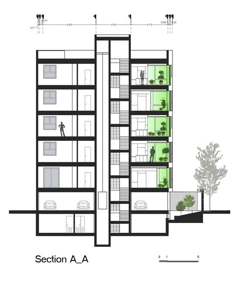 residential building section gallery of andarzgoo residential building ayeneh office 17