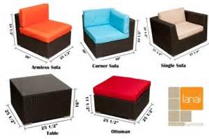Patio Furniture Sizes by 10pc Patio Sectional Sofa Tan Lanai Outdoor Furniture