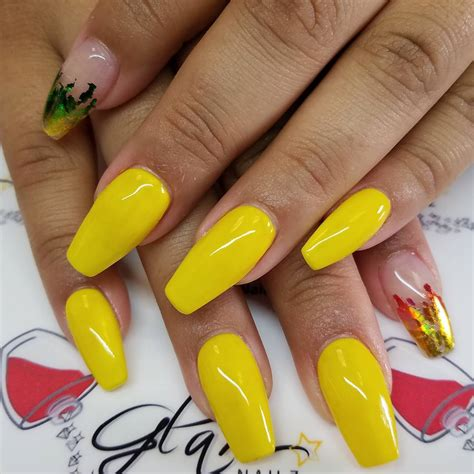 nails designs yellow acrylic and white black women nail designs nails gallery