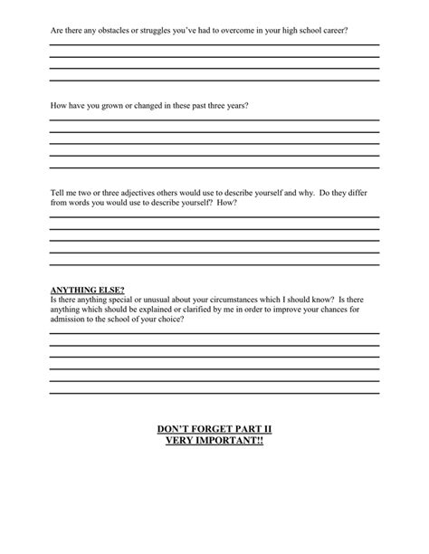 letter of recommendation questionnaire in word and pdf