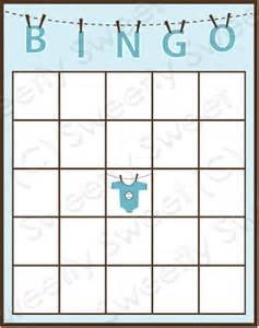 Baby Shower Bingo Card Template Baby Bingo Template