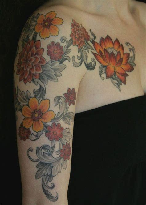 phoenix tattoo seattle 25 best flower tattoo shoulder ideas on pinterest