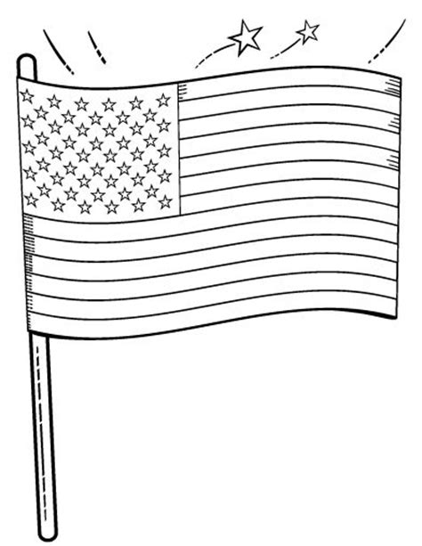 Flag Coloring Page Pdf Printable American Flag Coloring Page Free Pdf Download