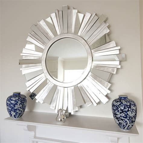Decoration Mirrors Home by Striking Silver Contemporary Mirror By Decorative Mirrors