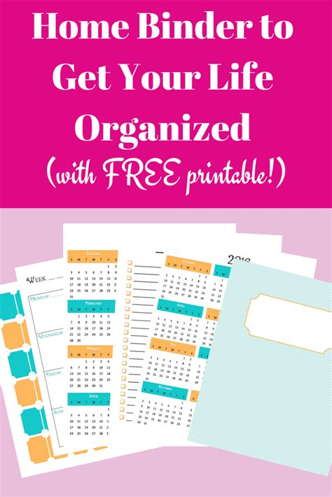 time to get organized get your free planner templates calendar binder free printables kids activities autos post