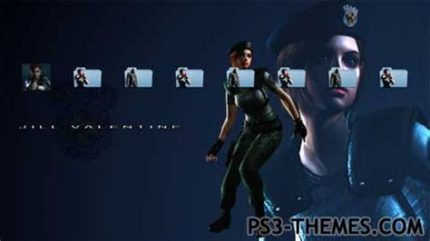 download themes resident evil ps3 themes 187 resident evil jill valentine