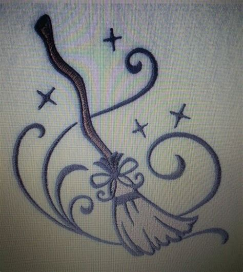witch hat tattoo witch broom could be such a witches stuff
