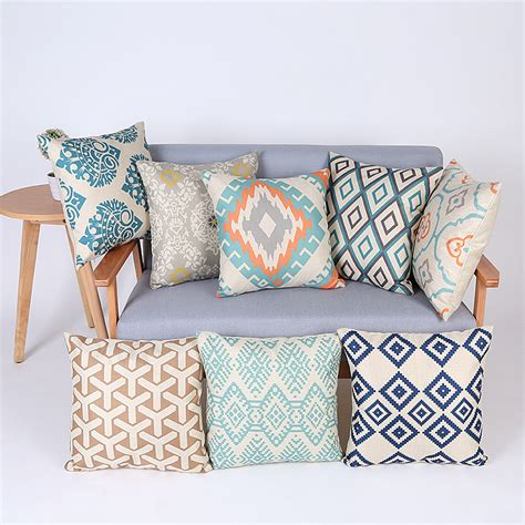 Cushion Sofa Bantal Sofa 6 geometric cushion cover decorative throw pillows chair almofadas para sofa pillow cover cojines
