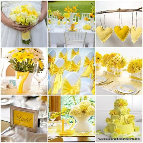Yellow wedding ideas. The place card frames are adorable