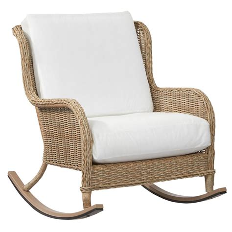 Patio Furniture Rocking Chair by Safavieh Alexei Ash Gray Acacia Wood Patio Rocking Chair