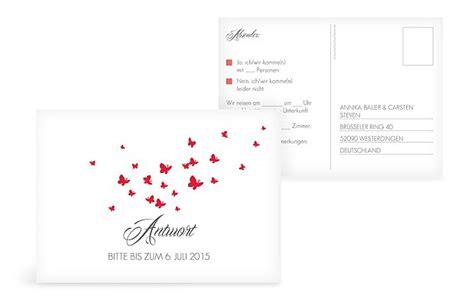 Hochzeitseinladung Antwortkarte by Antwortkarten Zur Hochzeit Individuelle Antwortkarten