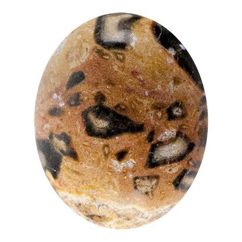 leopardskin jasper gemstone cabochon oval