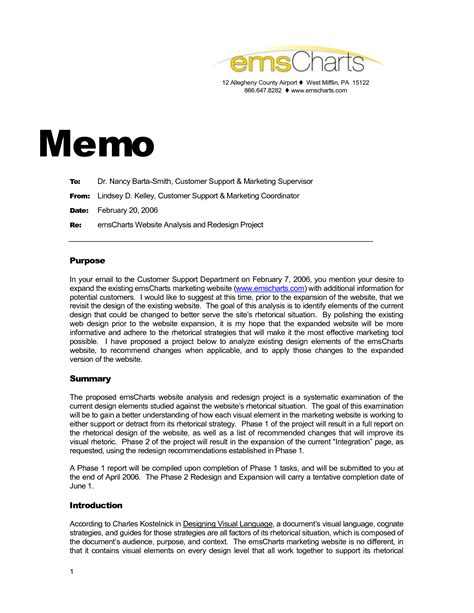 memo outline template best photos of project memo template business