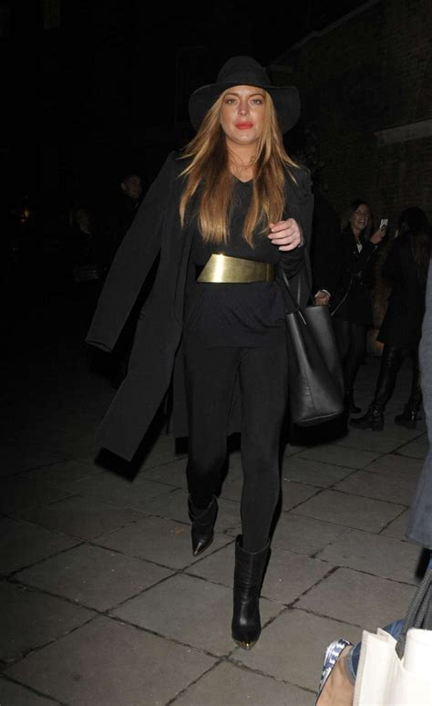 Lindsay Lohan Buys More Chanel by Lindsay Lohan Leaving The Chanel Exhibition 11