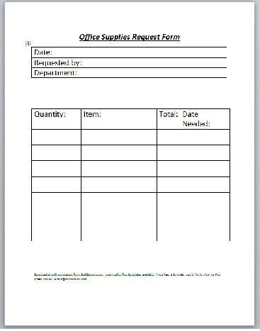 inventory request form template supply request template crest resume ideas