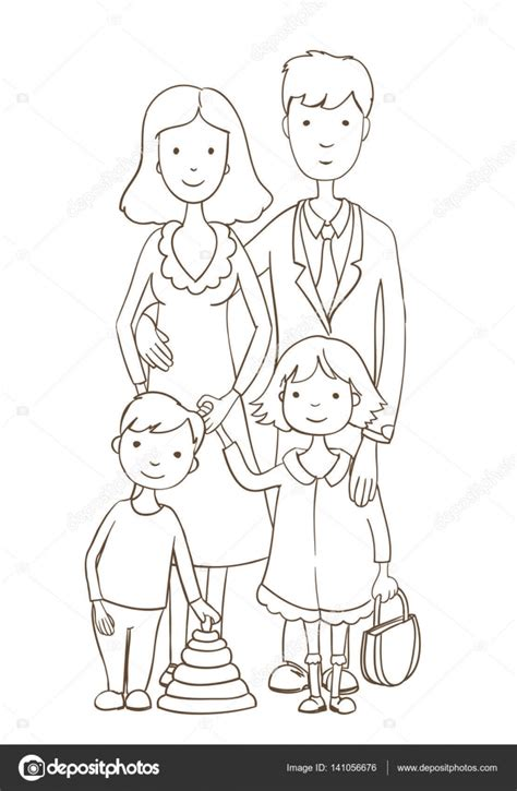 coloring pages happy family source families picture coloring page kids coloring