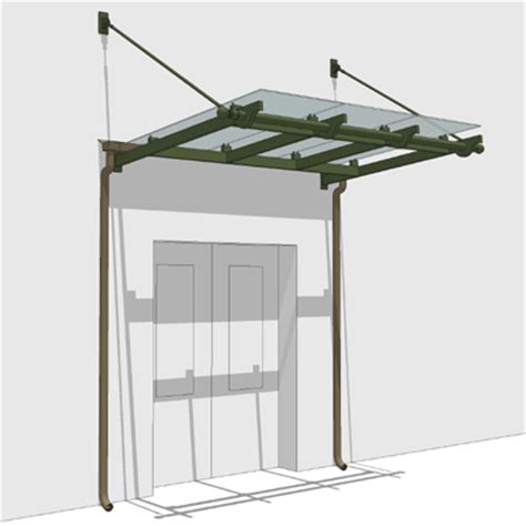 Small Canopy Small Glass Entrance Canopy 3d Model Formfonts 3d Models