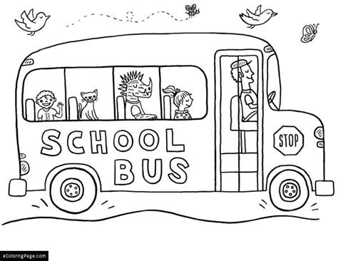 School Bus Printable Coloring Pages Coloring Pages Of School Buses