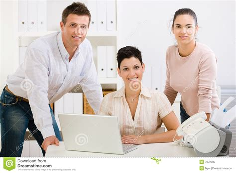 office team smiling stock photography image 7072382
