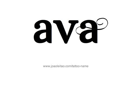 ava tattoo name designs