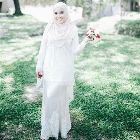 Baju Kurung Moden For Nikah baju kurung moden with veil baju nikah s fashion bridal wear on carousell