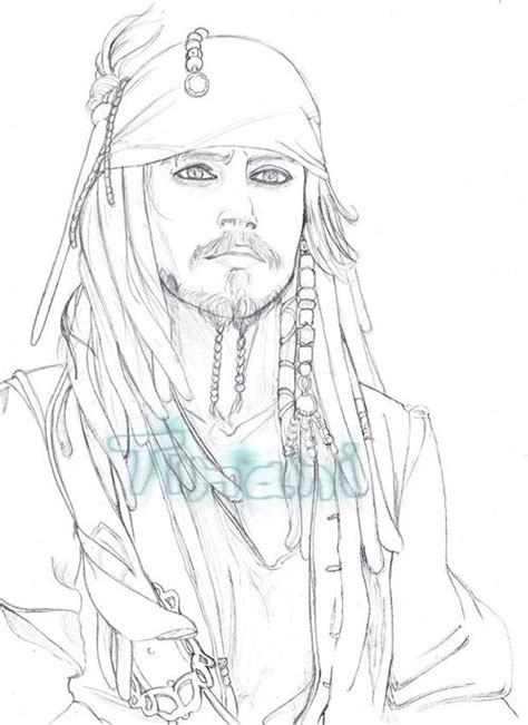 imagenes de jack sparrow jack sparrow dibujos para colorear imagui
