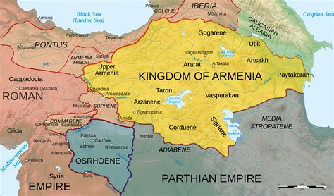 map of armenia map of armenia 50 ad illustration ancient history encyclopedia