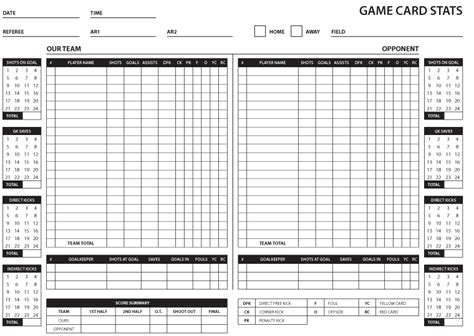 stat card template soccer card stats and summary brant wojack