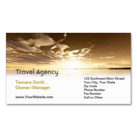 Travels Visiting Card Templates by Travel Agency Business Card Templates