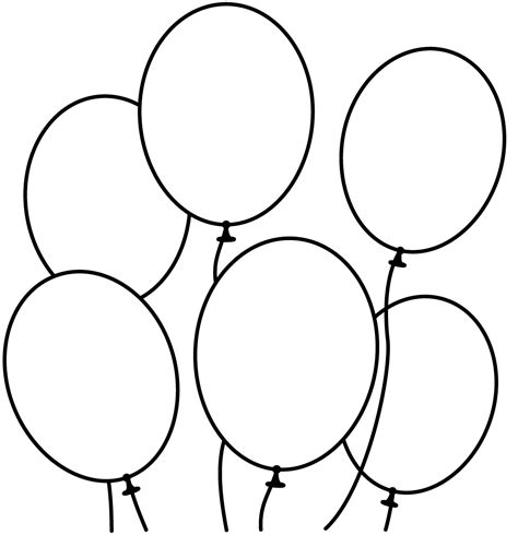 6 best images of black and white printable invitations balloon coloring pages bestofcoloring com