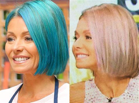 hair color kelly ripa uses kelly ripa ditches blue hair for opal locks after just 1