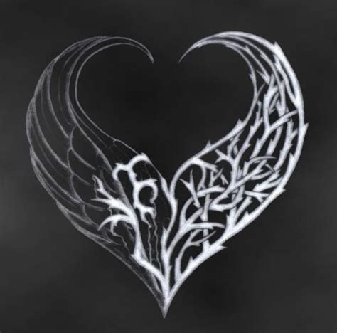 Gothic Heart With Wings Loading