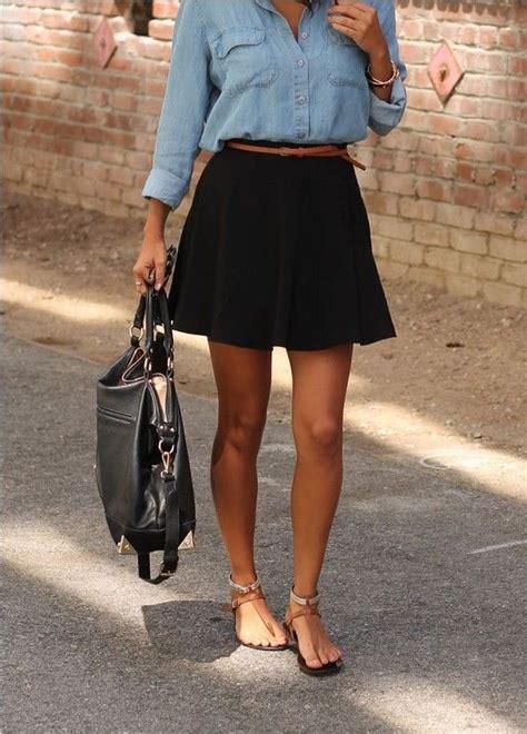 17 best ideas about black skirt on black skater skirt fall skirt