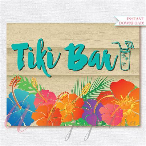 printable hawaiian letters tiki bar sign luau sign printable luau sign hawaiian