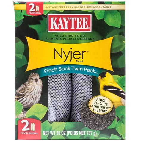 kaytee kaytee nyjer seed finch sock twin pack finch