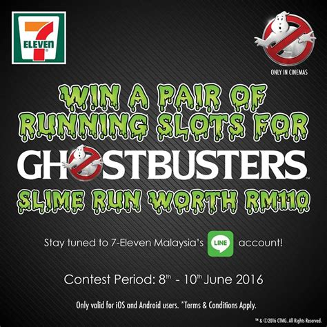 Run Giveaway - 7 eleven the ghostbusters slime run giveaway contests events malaysia