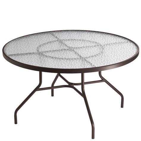 tropitone 647n acrylic and glass tables 48 inch