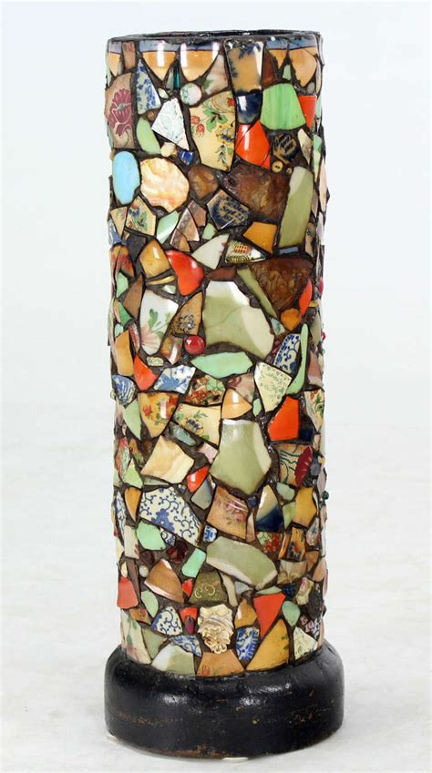 mozaiek l staand mosaic heavy pottery cane or umbrella stand for sale at