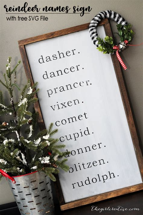 creative christmas nicknanes diy farmhouse reindeer names sign the creative