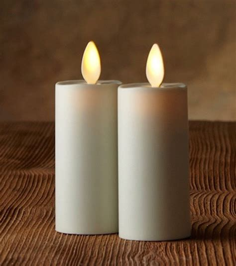 luminara candele luminara votive candle set of 2 ivory moving wick candles