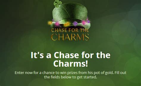 Lucky Contests Sweepstakes - lucky charm s chase for the charms instant win game and sweepstakes mojosavings com