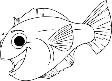 coloring pages of tiger fish free printable large fish coloring pages free printable