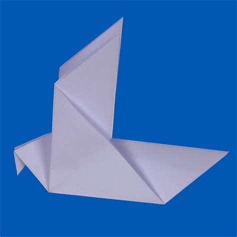 Paper Dove Origami - origami dove free craft tutorial animaplates